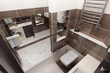 Обратите внимание на прекрасное свойство зеркал увеличивать пространство. Можно сделать зеркальный потолок и повесить большое зеркало на стену, тогда в ванной комнате станет в разы светлее и будет казаться, что она просто огромна. Чтобы стены не давили, а потолок не создавал впечатление нависающего прямо над головой, необходимо выбирать правильные отделочные материалы. В маленькой ванной комнате неприемлемы темные цвета и крупные рисунки. При создании дизайна ванной комнаты используют шкаф для ванных принадлежностей с зеркальной дверей. Это отличное решение для интерьера маленькой ванны. Кроме того, подобный шкаф вмещает все необходимые атрибуты ванной комнаты – шампуни, гели, зубные щетки. А это позволяет исключить эффект нагромождённости. Но, всё же, не стоит забывать, что самым главным предметом в ванной комнате является, конечно же, сама ванна. На сегодняшний день для того чтобы создать уникальный дизайн интерьера ванной в Днепропетровске дизайнерами разработаны ванны самых разных форм и цветовых решений. В зависимости от размеров и планировки помещения, вы можете выбрать классическую прямоугольную ванну или угловую треугольную, или овальную. Если раньше ванны бывали только двух видов, чугунная и стальная, и только одного цвета, то теперь к ним прибавились акриловая, ванная с гидромассажем, ванная из литого мрамора и что радует — абсолютно любой формы, размера и цвета. Если ваша ванная комната имеет небольшие размеры, то, возможно, стоит подумать об установке современной и комфортабельной душевой кабины. Душевые кабины занимают мало места, имеют стильный и красивый вид, гигиеничны, экономичны (сокращают расход воды), Формы и размеры душевых кабин бывают самые различные – на любой При таком большом разнообразии товаров могут возникнуть затруднения с выбором сантехники и мебели, определением стиля ванной комнаты. В таком случае обратитесь к профессионалам. Дизайнеры студии 3DStyle помогут Вам выбрать подходящий стиль. И создать неповторимый дизайн интерьера ванной