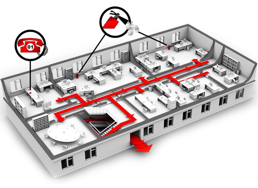 Изготовление планов эвакуации.  Фото