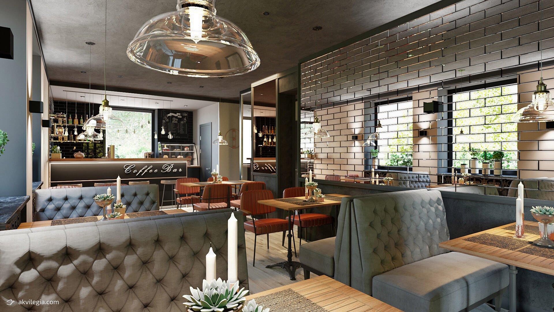 Дизайн интерьера кафе,