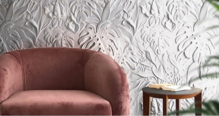 Рельєфні 3д панелі з рослинним орнаментом